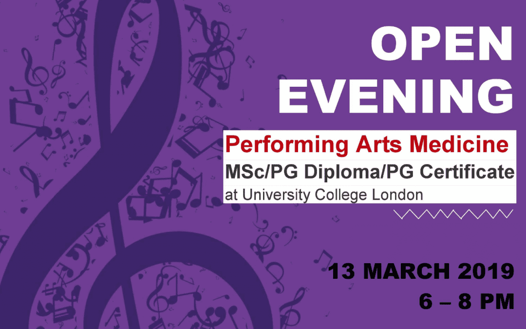 Open Evening for Performing Arts Medicine Course