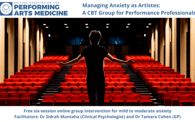 Managing Anxiety: BAPAM CBT Group for Performing Artistes
