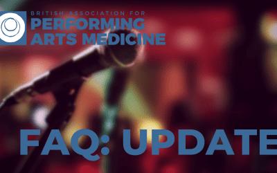 UPDATED FAQ: Returning to Performing Arts Work post-COVID 19 Lockdown