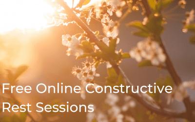 Free Online Alexander Technique Constructive Rest Sessions