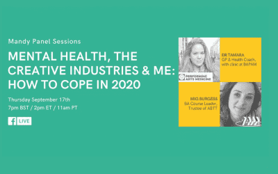 Mental Health, the Creative Industries & Me: How to Cope in 2020 – Mandy Panel Session with BAPAM and ABTT