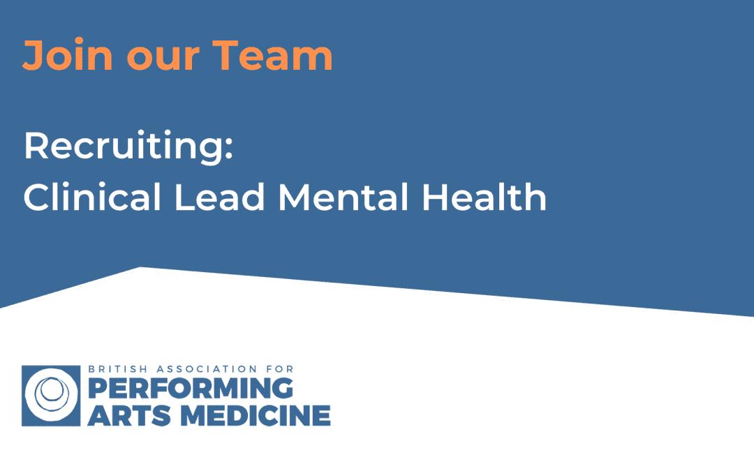 Recruiting: Clinical Lead Mental Health