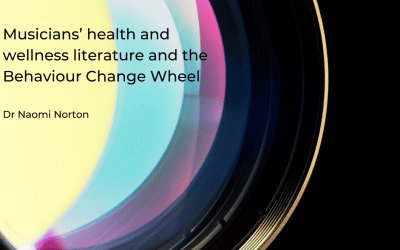 Musicians' health and wellness literature considered through the lens of the Behaviour Change Wheel