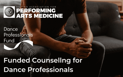 Funded Counselling for Dance Professionals from BAPAM and Dance Professionals Fund